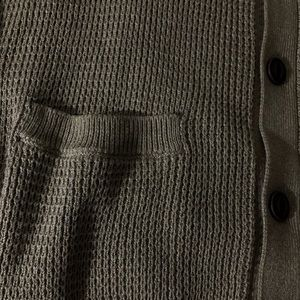 GAP Sweaters - Men's Gap Tan Woven Cardigan with Wooden Buttons